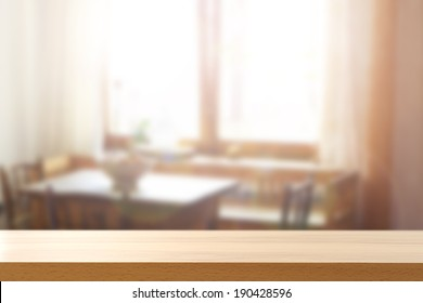 yellow desk and window space with sun
