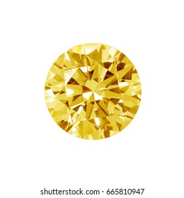 Yellow Diamond on white background with high quality