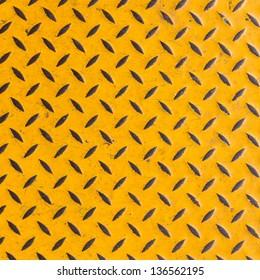 Yellow diamond steel plate