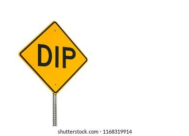 Yellow Dip Sign