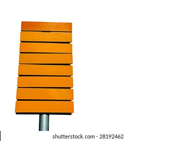 yellow direction sign empty isolated in white background