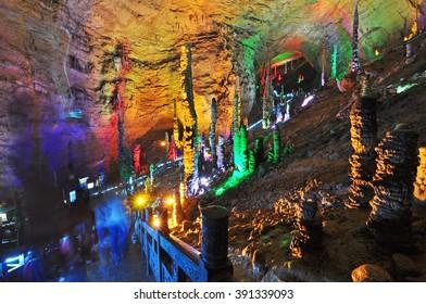 Yellow Dragon Cave , Zhangjiajie, China