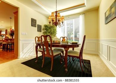 Yellow elegant dining room