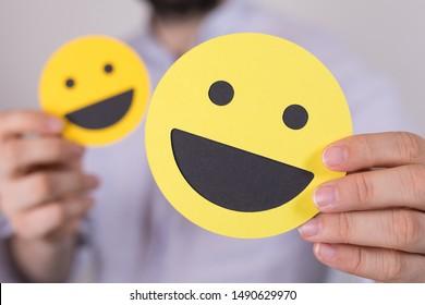 yellow emoji Smiley feeling Concept