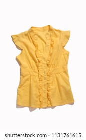 yellow female blouse isolated