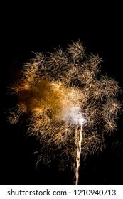 yellow firework burst