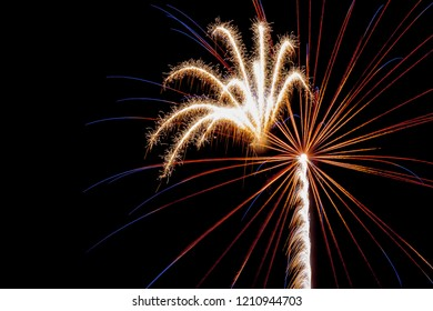Yellow fireworks burst