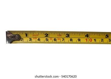 Yellow flexometer tape