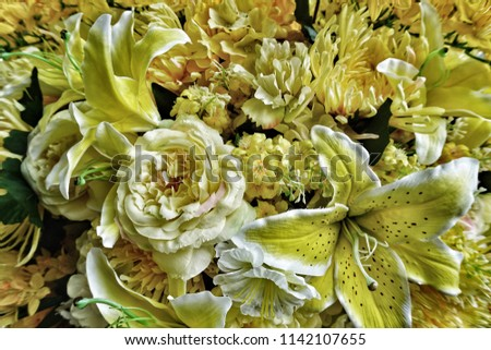 Yellow Flowers Decoration Yellow Flowers Symbolize Stock Photo Edit