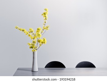 Flower vase images stock photos vectors shutterstock yellow flowers in vase mightylinksfo