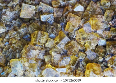 yellow fluorite mineral texture as nice background
