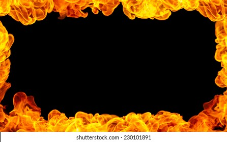 Yellow Frame Background. Fire is the rapid oxidation of a material in the exothermic chemical process of combustion.