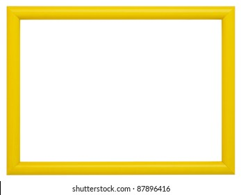 Yellow frame isolated on white background