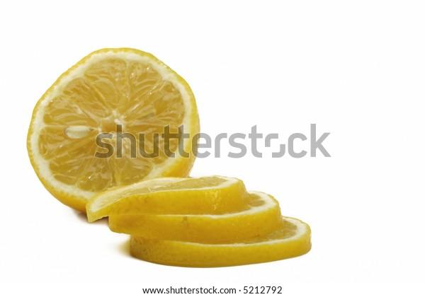 Yellow fresh lemons