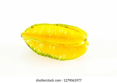 Yellow fruit carambola isolated