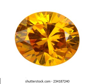 yellow gems on a white background