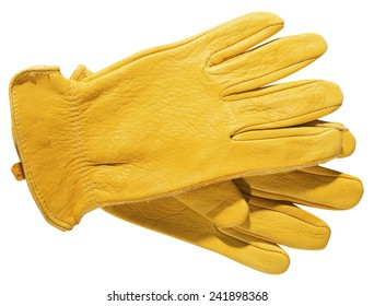 Yellow Gloves isolated on white background