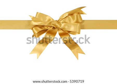 yellow gold gift ribbon bow straight stock photo edit now 5390719