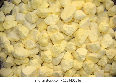 yellow grains of Sulfur
