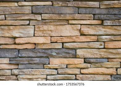 Yellow and Gray Masonry Wall Background