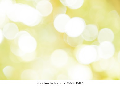 Yellow and green bokeh background from natural forest