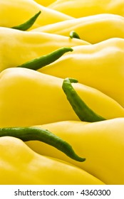 yellow and green peppers for food background