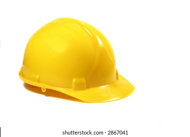 Yellow hard Hat on a white background