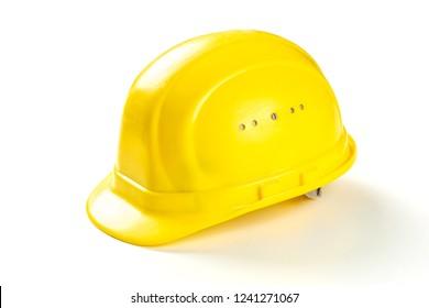 Yellow Hard Hat Safty Helmet isolated on white background