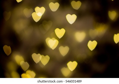 Yellow Heart Bokeh