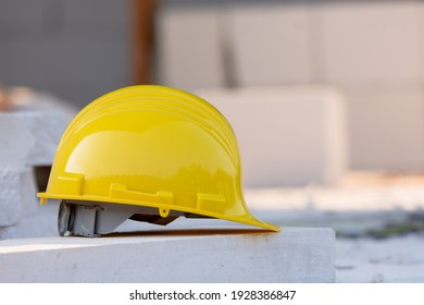 Yellow helmet hard hat safety in site construction
