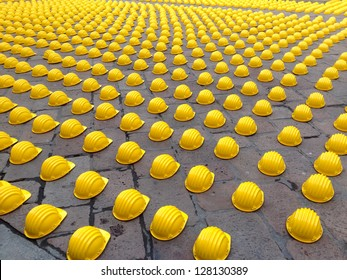 Yellow helmets composition