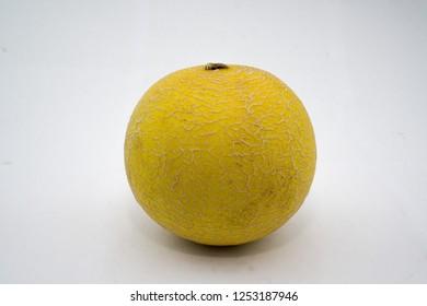 The yellow honeydew melon.