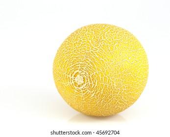 Yellow honeydew melon.