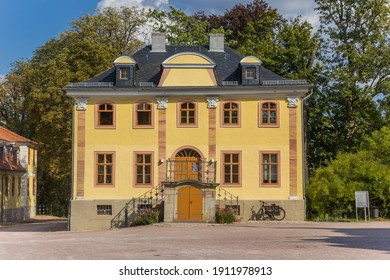Yellow house of the Belvedere castle in Weimar, Germany