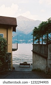 Yellow house in lake Como area, Italy