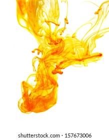 yellow ink in water