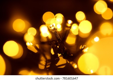 Yellow LED Garland