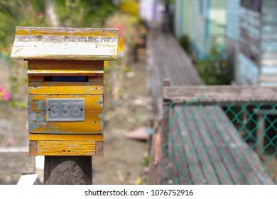 Yellow letter box
