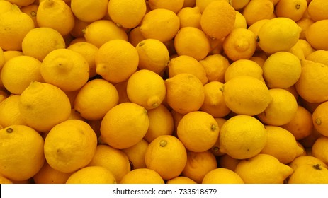 Yellow lime pile which can be used as background, texture and misc purposes for food industry