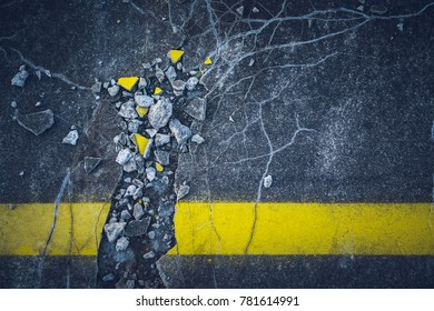Yellow line interrupted