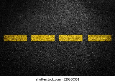 Yellow Line On Asphalt