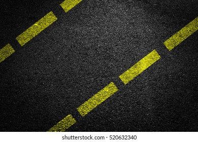 Yellow Line On Asphalt
