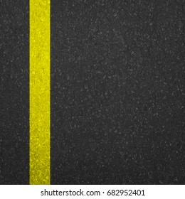 Yellow Line On Asphalt Road texture background