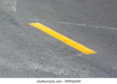 yellow line on the road background.