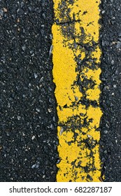 yellow line on road texture,old.