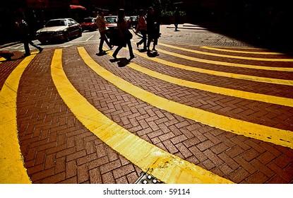 yellow line road