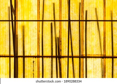 Yellow linear abstraction. Structural beauty.