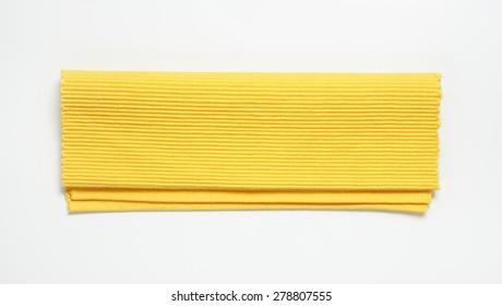 Yellow linen place mat