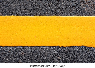 Yellow lines on road