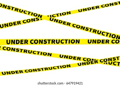 yellow lines with under construction text